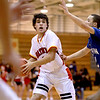 Batavia's Micah Coffey looks for a teammate to pass to during their home game against Larkin Thursday night.