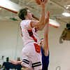 Batavia's Jake Pollack goes up for a shot during their home game against Larkin Thursday night.