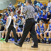 Geneva's head coach Sarah Meadows talks to the official during the 3rd quarter of play against Streamwood at Streamwood HighSchool in Streamwood, IL on Friday, January 25, 2013 (Sean King for The Kane County Chronicle)