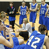 Geneva's head coach Sarah Meadows talks to her team during a time out against Streamwood at Streamwood HighSchool in Streamwood, IL on Friday, January 25, 2013 (Sean King for The Kane County Chronicle)