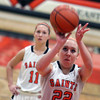 Jeff Krage – For the Kane County Chronicle<br /> St. Charles East's Anna Bartels shoots a free throw during Saturday's game against visiting Batavia.<br /> St. Charles 1/26/13