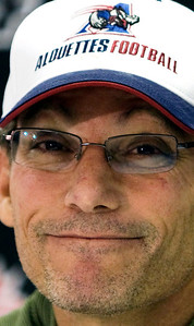 Montreal Alouettes head football coach Marc Trestman during a 2008 press conference in Montreal. Trestman spent the past five seasons with the CFL's Alouettes and led them to two Grey Cup titles. (AP Photo/The Canadian Press, Nathan Denette, File)