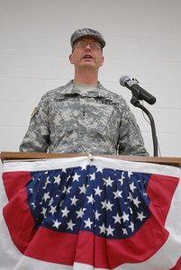 Maj. Gen. David Conboy delivers a speech after becoming commanding general of the 416th Theater Engineer Command during a change of command ceremony at the Parkhurst Reserve Center in Darien on Saturday, Jan. 5, 2013. Matthew Piechalak— mpiechalak@shawmedia.com.
