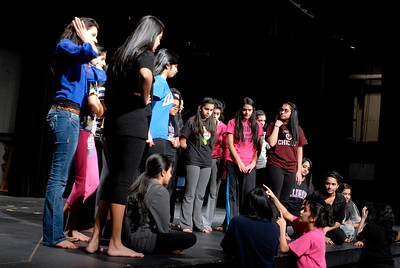 """Members of the Glenbard North Indian Student Association (ISA)  during a rehearsal on Thursday, Jan. 24, 2013. The ISA will hold """"India Night 2013"""" at the high school on Feb. 1 and 2. Matthew Piechalak— mpiechalak@shawmedia.com."""