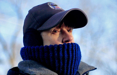 Sarah Nader - snader@shawmedia.com Crossing guard Gloria Burchfield of Crystal Lake is bundled up with four layers of clothes while she waits for children to get out of school on the corner of Woodstock St. and Oak St.  in Crystal Lake on Tuesday, January 22, 2013. According to Accuweather.com, temperatures stayed in the single digits throughout the day and are expected to be in the low 20's on Wednesday.