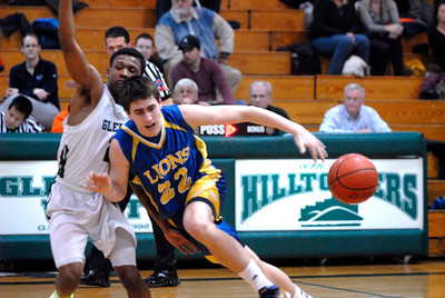 Lyons Township senior forward Chris O'Reilly loses the ball during a game at Glenbard West on Thursday, Jan. 24, 2013. Matthew Piechalak— mpiechalak@shawmedia.com.