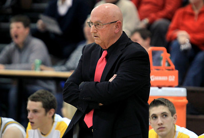Sarah Nader - snader@shawmedia.com Jacobs' head coach Jim Hinkle watched the game on Tuesday, January 15, 2013.