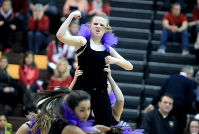 Sarah Nader - snader@shawmedia.com The Jacobs dance team performs during the half-time of Tuesday's boys basketball game against Dundee-Crown on January 15, 2013.
