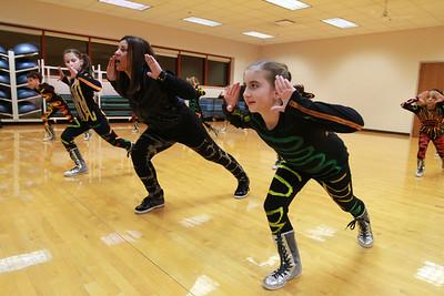 Dance instructor Tanja Pazou leads Kidz in the Mix in their routine on Wednesday, Jan. 23. Sarah Minor — sminor@shawmedia.com
