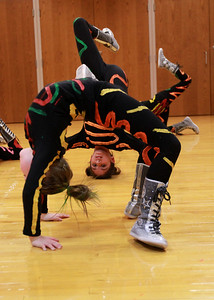 Members of Kidz in the Mix practice their routine at Oak Brook park district on Wednesday, Jan. 23. Sarah Minor — sminor@shawmedia.com
