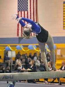 Downers Grove South's Lauren Wendt performs on beam in the Lyons Township regional gymnastics meet on Wednesday, Jan. 30, 2013 in La Grange. Bill Ackerman — backerman@shawmedia.com
