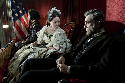 """This image released by DreamWorks II Distribution Co., LLC and Twentieth Century Fox Film Corporation shows Sally Field and Daniel Day-Lewis appear in a scene from """"Lincoln.""""  Fields was nominated for an Academy Award for best supporting actress and Lewis was nominated for best actor on Thursday, Jan. 10, 2013, for their roles in ìLincoln.""""  (AP Photo/DreamWorks II Distribution Co., LLC and Twentieth Century Fox Film Corporation, David James)"""