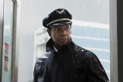 "This film image released by Paramount Pictures shows Denzel Washington portraying Whip Whitaker in a scene from ""Flight.""  Washington was nominated  for an Academy Award for best actor on Thursday, Jan. 10, 2013, for his role in the film.  The 85th Academy Awards will air live on Sunday, Feb. 24, 2013 on ABC. (AP Photo/Paramount Pictures, Robert Zuckerman)"