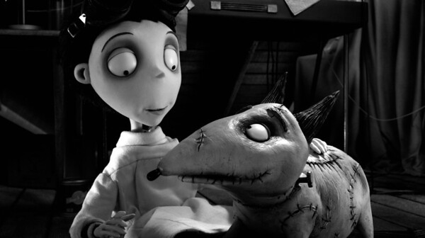 """This film image released by Disney shows Victor Frankenstein, voiced by Charlie Tahan, with Sparky, in a scene from """"Frankenweenie."""" The film was nominated for an Academy Award for best animated picture on Thursday, Jan. 10, 2013.  The 85th Academy Awards will air live on Sunday, Feb. 24, 2013 on ABC.   (AP Photo/Disney, file)"""