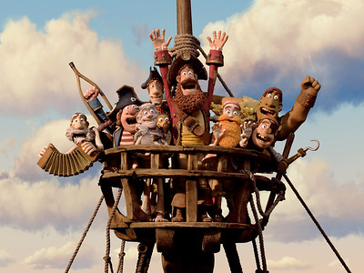 """In this film image released by Sony Pictures, the cast is shown in a scene from """"The Pirates! Band of Misfits."""" The film was nominated for an Academy Award for best animated picture on Thursday, Jan. 10, 2013.  The 85th Academy Awards will air live on Sunday, Feb. 24, 2013 on ABC. (AP Photo/Aardman Animation for Sony Pictures Animation)"""