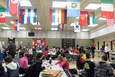 High School students make Valentine's Day cards during the Glenbard District 87 Valentine's For Vets event at Glenbard North High School in Carol Stream on Wednesday, Jan. 30, 2013. Matthew Piechalak— mpiechalak@shawmedia.com.