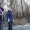 People look for birds on Nelson Lake during a bird walk on New Year's Day at Dick Young Forest Preserve.<br /> Batavia 1/1/13(Jeff Krage photo for the Kane County Chronicle)