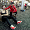 Malissa Pagan of Batavia works with trainer and coach Lindsay Feltes-Muetze at XSport Fitness in Batavia.(Sandy Bressner photo)