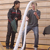 Kaneland High School sophomore A.J. Ayala (right) samples a rope exercise as classmate Josh Delao (left) looks on during a wellness fair at the school Tuesday.(Sandy Bressner photo)