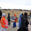 Representatives for the Pro Life Action League march near the Planned Parenthood in Aurora Saturday morning. Today is the 40th anniversary of Roe vs. Wade, the historic U.S. Supreme Court decision that determined access to abortion.(Sandy Bressner photo)