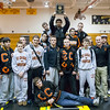 St. Charles East's Wrestling team celebrates their 1st place finish at the UEC WRESTLING MEET at Batavia HighSchool in Batavia, IL on Saturday, January 19, 2013 (Sean King for The Kane County Chronicle)