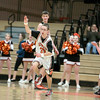 St. Charles East senior Grant Sturgeon celebrates a basket during their Illinois Special Olympics basketball game against the East varsity squad Wednesday night. (Sandy Bressner photo)