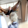 Doug Whitley of Batavia, president of the Illinois Chamber of Commerce, gives the keynote address during a multi-chamber breakfast at Eagle Brook Country Club in Geneva Thursday morning. (Sandy Bressner photo)