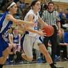 Kyla Helsel of St. Charles North races towards the basket against Geneva High School Saturday, Jan. 5 at St. Charles North High School in St. Charles.
