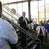 Keith Moreland, Cubs' color analyst on WGN-AM Radio 720, thanks Cougars personnel for the warm welcome Thursday during the Cubs On The Move 2013 Caravan Tour at Fifth Third Bank Ballpark. (Jeff Krage photo for the Kane County Chronicle)