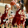 Kaneland's Emma Bradford goes up for a shot during their game against Morris in Maple Park Tuesday.(Sandy Bressner photo)