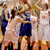 Geneva's Kelly Gordon (20) puts of a shot during their game at Batavia Friday night.(Sandy Bressner photo)