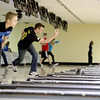 Geneva High School bowler Matt Bowman practices with his team Monday afternoon at St. Charles Bowl.(Sandy Bressner photo)