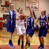 Batavia's Liza Fruendt (5) puts up a shot during their home game against Geneva Friday night.(Sandy Bressner photo)
