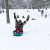 Steve Mefford and his is son Matthew Mefford, 8 of Batavia enjoy the afternoon sledding at The Fabyan Forest Preserve in Geneva, IL on Wednesday, January 01, 2014 (Sean King for Shaw Media)