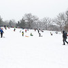Area residents enjoy the snowfall sledding at The Fabyan Forest Preserve in Geneva, IL on Wednesday, January 01, 2014 (Sean King for Shaw Media)