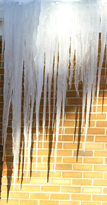 H. Rick Bamman -hbamman@shawmedia.com Icicles form on the First Congregational Church building in Huntley.
