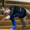 Jeff Krage – For Shaw Media<br /> Geneva's Megan Beitzel competes on the vault during Wednesday's gymnastics meet against visiting Batavia.<br /> Geneva 1/8/14