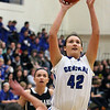 Jeff Krage – For Shaw Media<br /> Burlington Central's Alison Colby takes a shot during Saturday's game against visiting Kaneland.<br /> Burlington 1/11/14