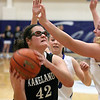 Jeff Krage – For Shaw Media<br /> Kaneland's Kelly Wallner looks for a shot during Saturday's game at Burlington Central.<br /> Burlington 1/11/14