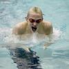 St. Charles East's John Tarpey swims the 100-yard individual medley during their dual meet at St. Charles North Thursday.