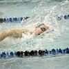 Stephen Hutchinson of St. Charles North competes in the 100-yard freestyle during their dual meet against St. Charles East Thursday.