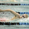 St. Charles East's Nick Boryk swims the 200-yard freestyle during their dual meet at St. Charles North Thursday.