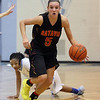 Jeff Krage – For Shaw Media<br /> Batavia's Liza Fruendt heads up the court after a steal during Monday's game against Joliet Catholic in the 24th annual McDonald's Shootout at Willowbrook High School.<br /> Villa Park 1/20/14