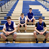Four Navigato boys are on the Geneva High School freshman boys basketball roster. (From left) Dominic, Blake, Cole and Devin. Dominic, Cole and Devin are triplets and Blake is their cousin.
