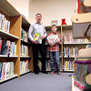 Eric Schaaf and his fifth-grader son, Brent, and their family have donated more than $1,000 in books and other equipment over a period of several years to Kaneland John Shields Elementary School in Sugar Grove.