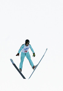 Sarah Nader- snader@shawmedia.com Patrick Gasienica of the Norge Ski Club is airborne during the 109th Norge Ski Jump Tournament at the Norge Ski Club in Fox River Grove Saturday January 25, 2014.