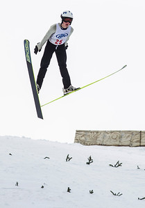 Kyle Grillot - kgrillot@shawmedia.com   Andrew Urlaub of the Flying Eagles Ski Club is airborne during the 109th Norge Ski Jump Tournament held at the Norge Ski Club in Fox River Grove Sunday January 26, 2014.