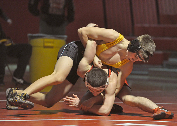 Hinsdale South at Central wrestling