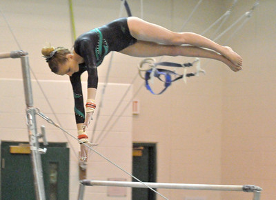 Lyons Township at Glenbard West girls gymnastics