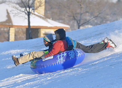 Sledding fun in Lisle